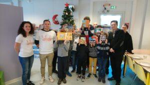 Distribution des cadeaux à Purpan en 2018