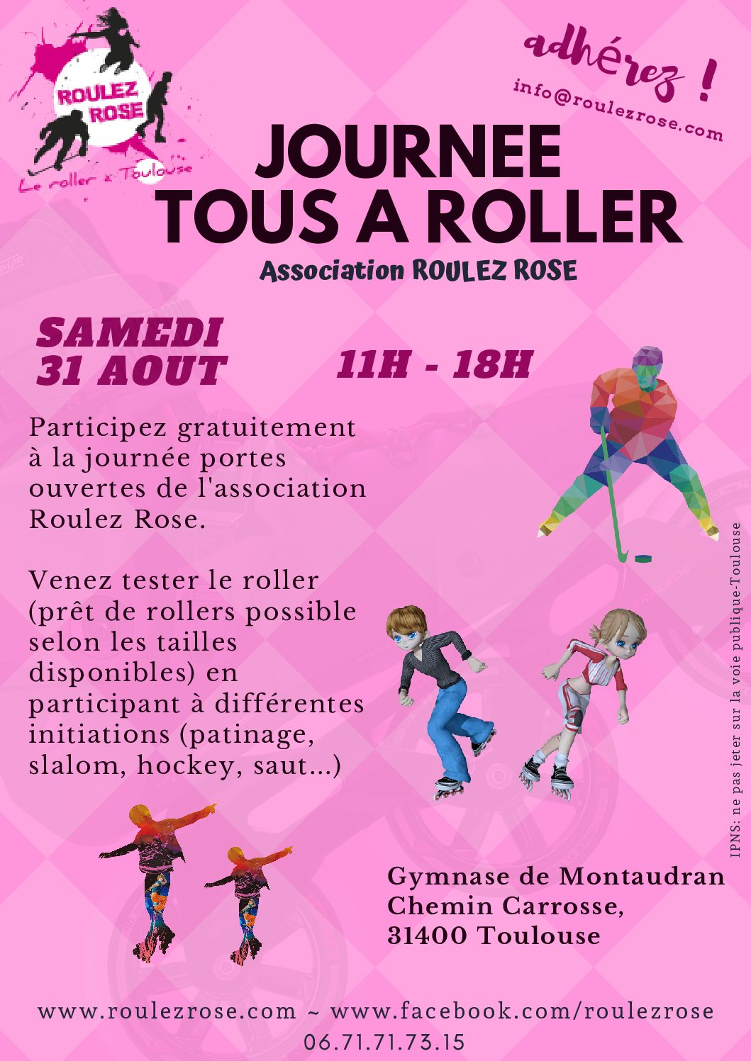 Calendrier Oller 2020.Le Roller A Toulouse Roulez Rose